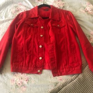 Red Distressed Jacket